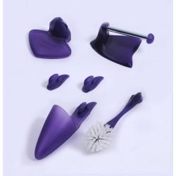 Zestaw WC FRUTTI fioletowy NOWOŚĆ | 5 elementów