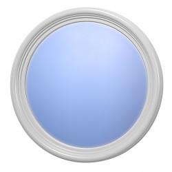 Lustro RETRO okrągłe z ramą, białe
