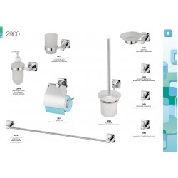 Zestaw łazienkowy 2900 chrom | 9 elementów