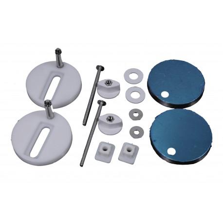 Komplet montażowy deski Formes ( KOALA ) - śruby + uchwyty + maskownice