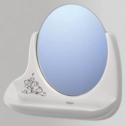 Lustro wiszące z półką białe IRIS bluszcz